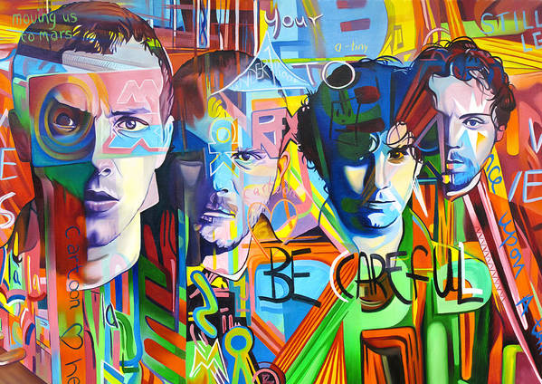Coldplay Art Print featuring the painting Coldplay by Joshua Morton