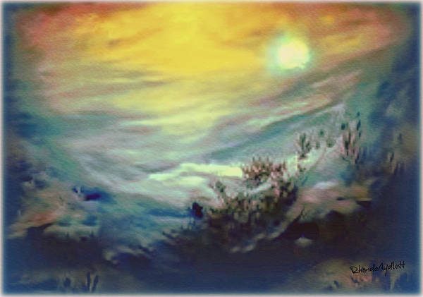 Dreamscape Print featuring the mixed media Dreaming by YoMamaBird Rhonda
