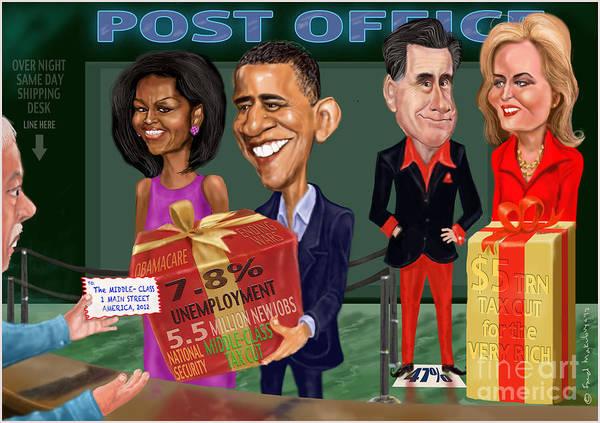 Obama Art Print featuring the digital art Early X-mas Gift by Fred Makubuya
