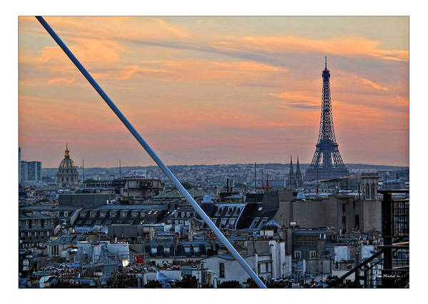 Eiffel Art Print featuring the photograph Eiffel Tower From Above by Joan Minchak