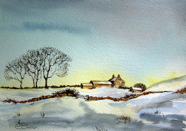 Yorkshire Art Print featuring the painting Farm In N.e Yorkshire by Jean Walker