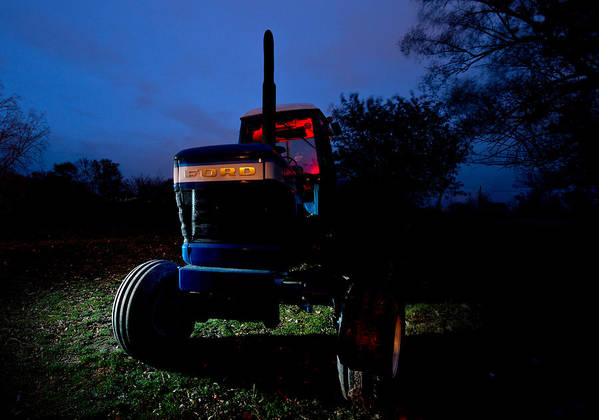 Tractor Art Print featuring the photograph Ford Tractor by Cale Best