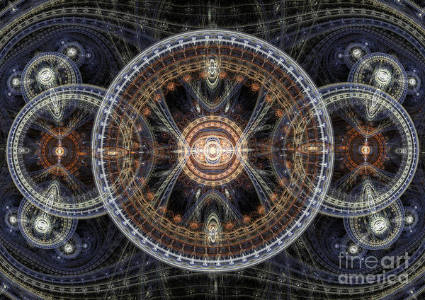 Abstract Art Print featuring the digital art Fractal Inception by Martin Capek