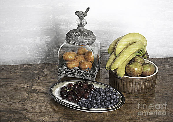 Fruit Print featuring the photograph Fruit Still Life by Lesley Rigg