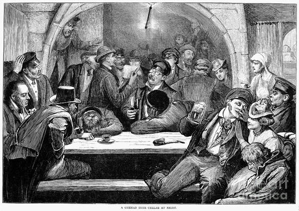 1875 Art Print featuring the photograph Germany: Beer Cellar, 1875 by Granger