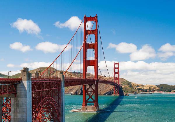 Golden Gate Bridge Art Print featuring the photograph Golden Gate Bridge by Sarit Sotangkur