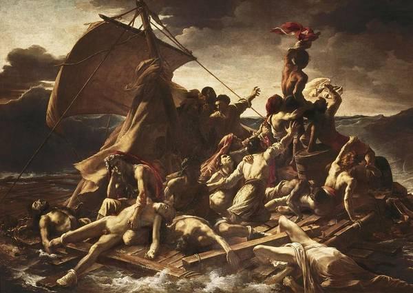 Horizontal Art Print featuring the photograph G�ricault, Th�odore 1791-1824. The Raft by Everett