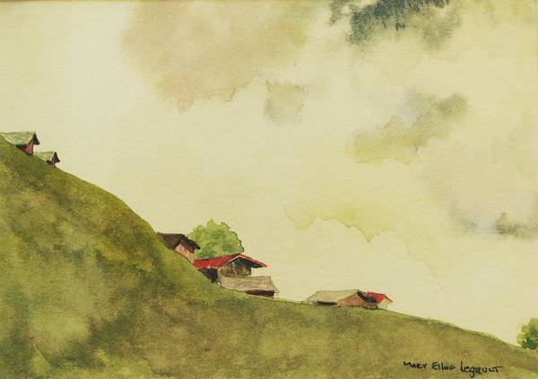 Swiss Art Print featuring the painting Grindelwald Dobie Inspired by Mary Ellen Mueller Legault