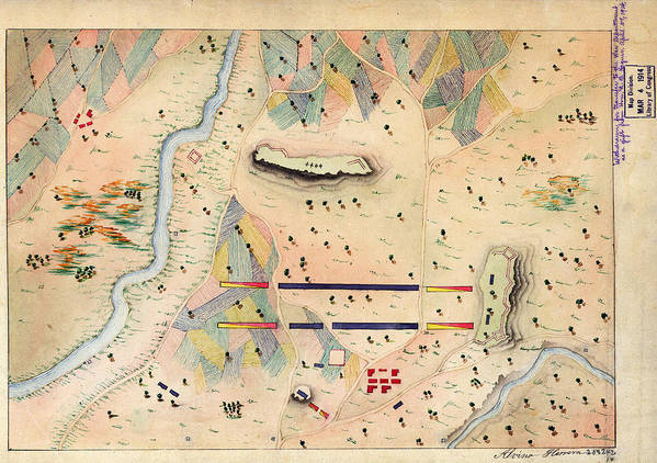 Herreras Map Of A Mexican War Campaign 1848 Art Art Print featuring the painting Herreras Map Of A Mexican War Campaign 1848 by MotionAge Designs