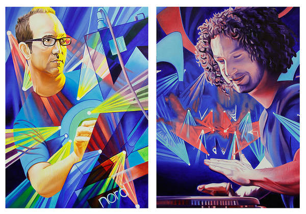 Umphrey's Mcgee Print featuring the painting Joel And Andy by Joshua Morton