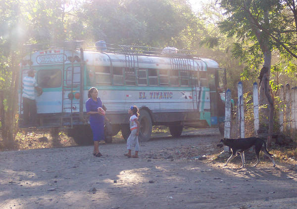 Nicaragua Art Print featuring the photograph Local Bus by Manuel