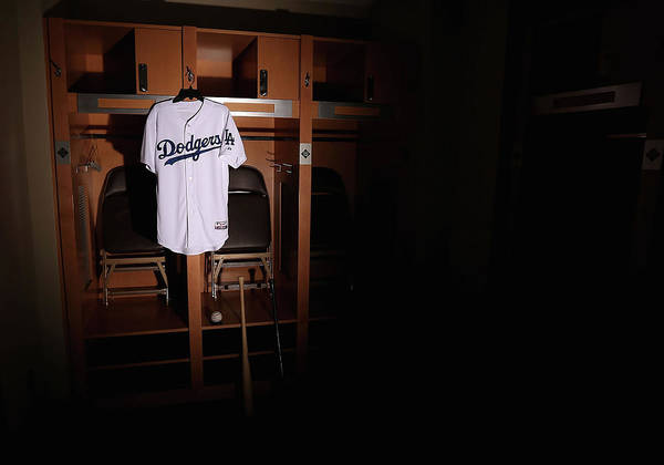 Media Day Art Print featuring the photograph Los Angeles Dodgers Photo Day by Christian Petersen