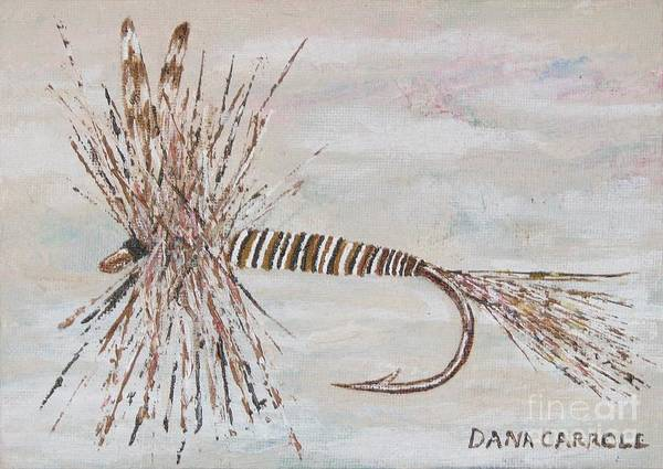 Fishing Art Print featuring the painting Mosquito Dry Fly by Dana Carroll