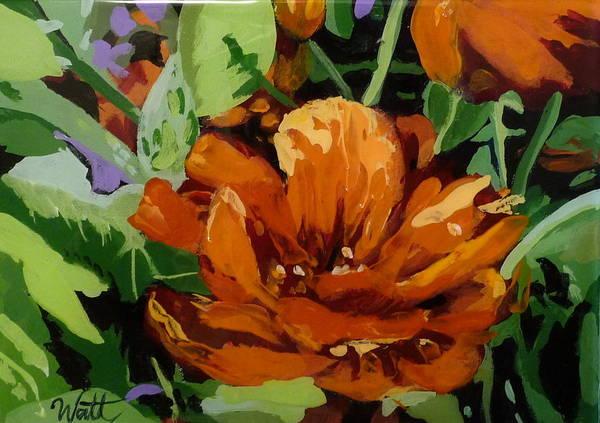 Flowers Art Print featuring the painting Nasturtium by Tammy Watt