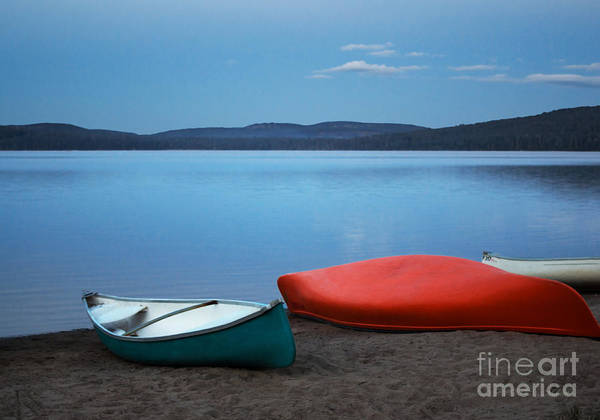 Canoe Print featuring the photograph Paddle's End by Barbara McMahon