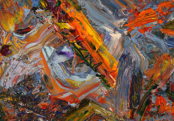 Abstract Art Print featuring the painting Paint Number 44 by James W Johnson