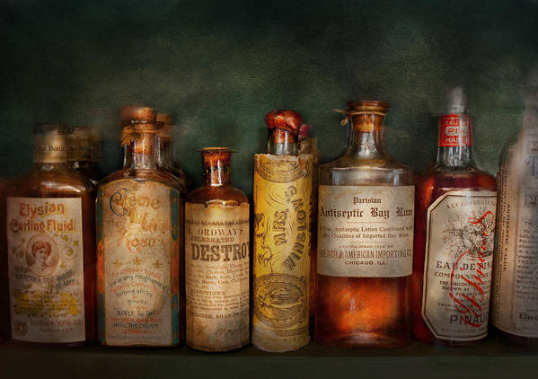 Hdr Art Print featuring the photograph Pharmacy - Daily Remedies by Mike Savad