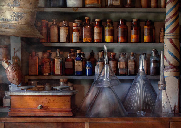 Hdr Art Print featuring the photograph Pharmacy - Master Of Many Trades by Mike Savad