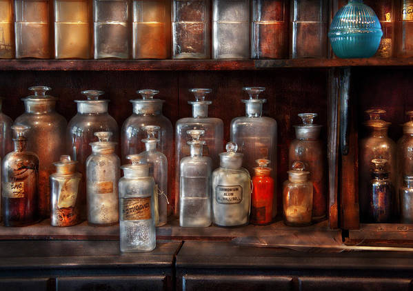 Pharmacist Art Print featuring the photograph Pharmacy - The Chemistry Set by Mike Savad