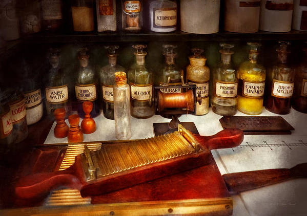 Apothecary Art Print featuring the photograph Pharmacy - The Dispensary by Mike Savad