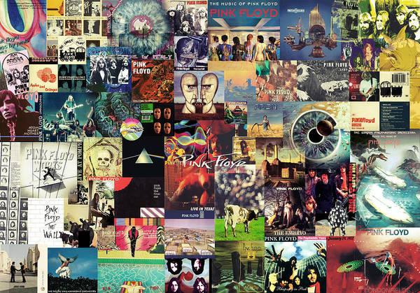 Pink Floyd Art Print featuring the digital art Pink Floyd Collage II by Taylan Apukovska