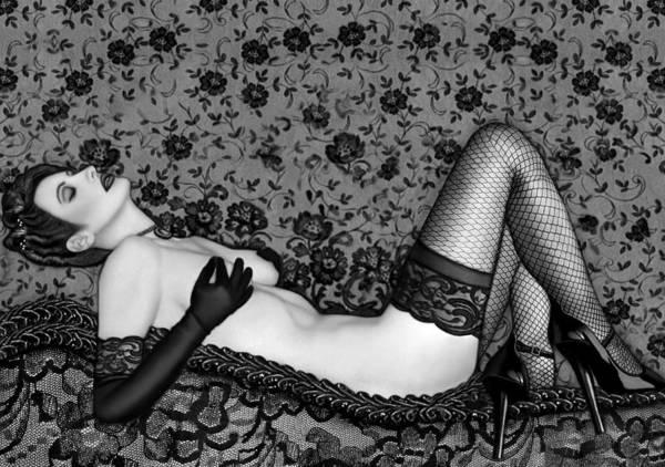 Boudoir Art Print featuring the photograph Ravishing Romance - Self Portrait by Jaeda DeWalt