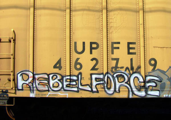 Graffiti Art Print featuring the photograph Rebel Force by Donna Blackhall