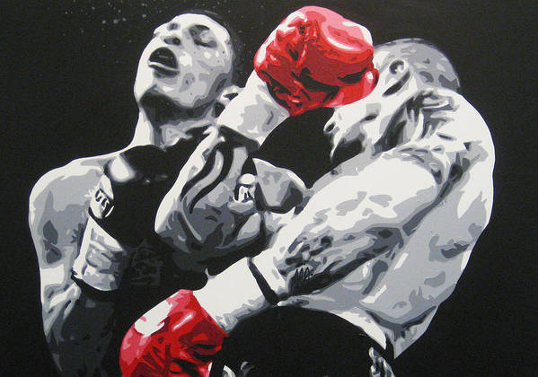 Ricky Burns Art Print featuring the painting Ricky Burns 1 by Geo Thomson