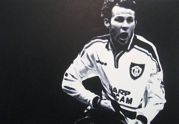 Ryan Giggs Art Print featuring the painting Ryan Giggs - Manchester United Fc by Geo Thomson