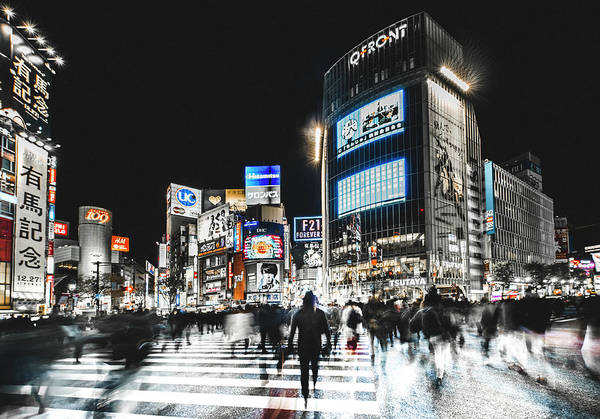 Tokyo Art Print featuring the photograph Shibuya Crossing by Carmine Chiriac??