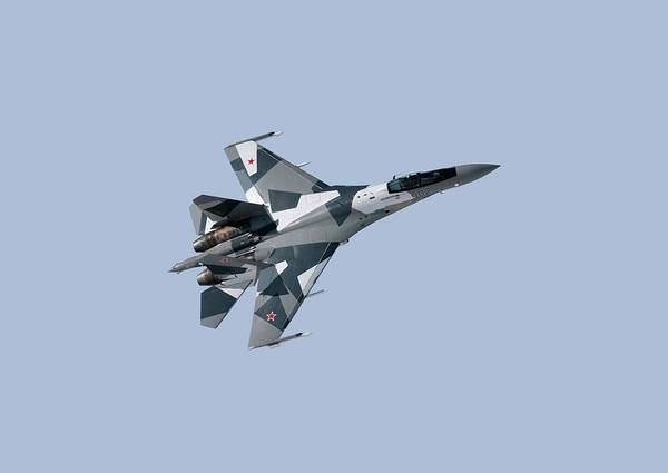 000 Art Print featuring the photograph Soviet Aggression Su-27 April 2014 by L Brown