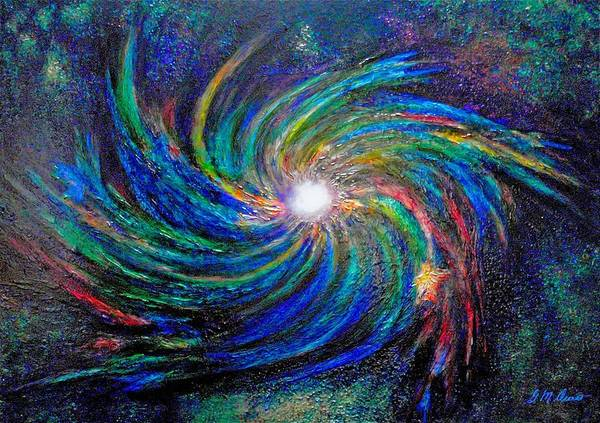 Digital Art Print featuring the painting Star Birth by Michael Durst