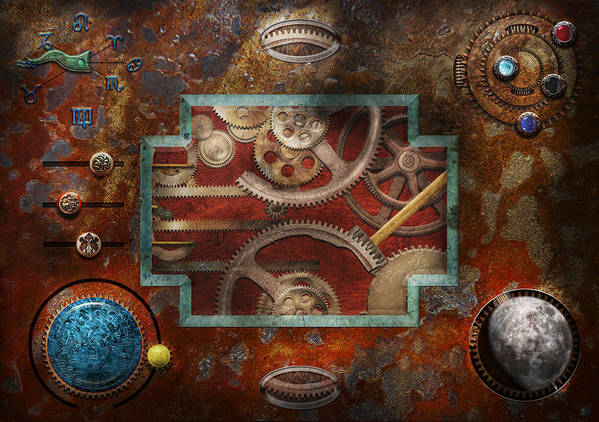 Hdr Art Print featuring the photograph Steampunk - Pandora's Box by Mike Savad