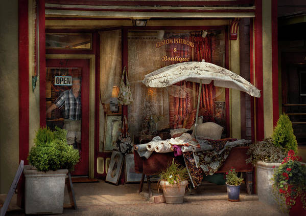 Hdr Art Print featuring the photograph Storefront - Frenchtown Nj - The Boutique by Mike Savad
