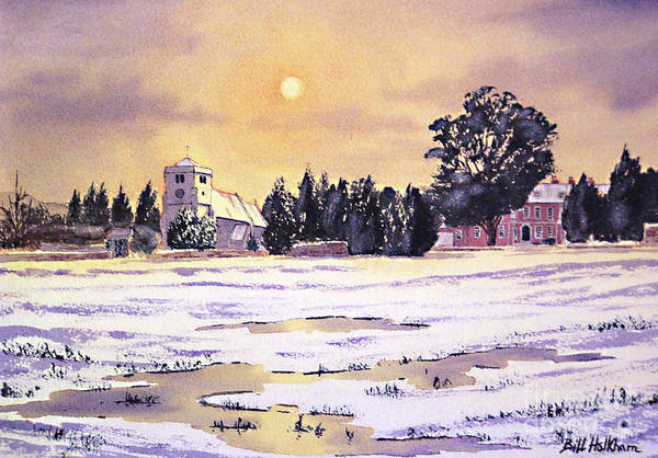 St Botolph's Church Print featuring the painting Sunrise Over St Botolph's Church by Bill Holkham