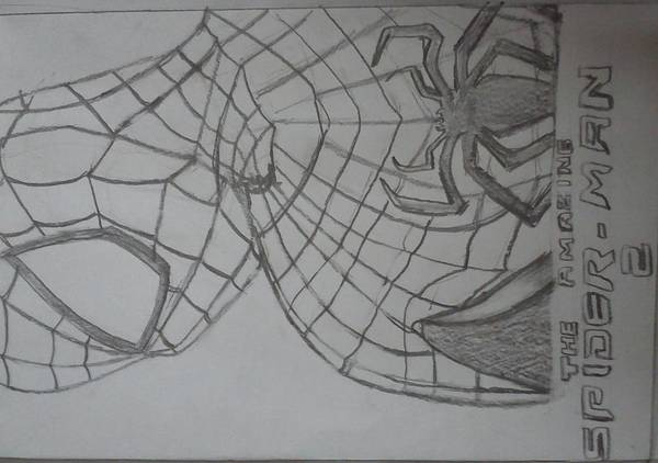 Spiderman Art Print featuring the drawing the amazing Spiderman 2 by Kishore Nedumaran