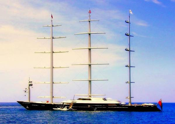 Maltese Falcon Yacht Art Print featuring the photograph The Mighty Maltese Falcon by Karen Wiles