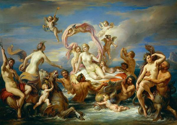Painting Print featuring the painting Triumph Of Venus by Anonymous