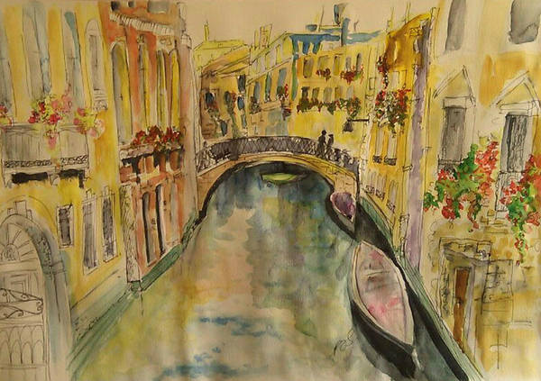 Venice Art Print featuring the painting Venice I. by Paula Steffensen