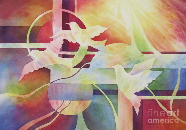World Peace Art Print featuring the painting World Peace 2 by Deborah Ronglien