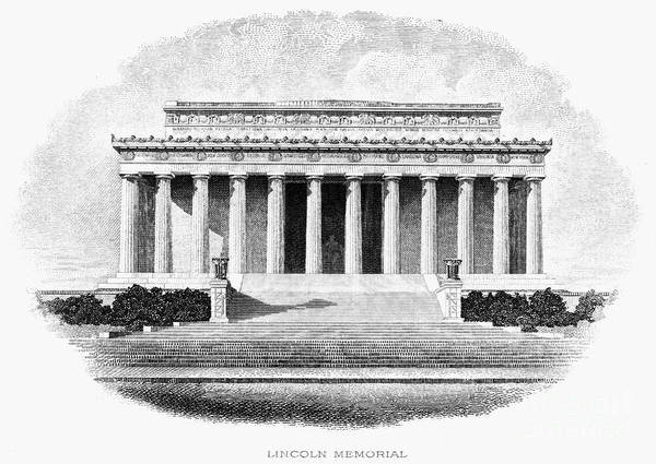 20th Century Art Print featuring the photograph Lincoln Memorial by Granger