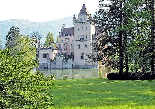 Europe Art Print featuring the photograph Schloss Anif by Joseph Hendrix