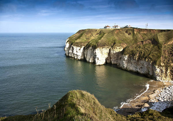 Flamborough Art Print featuring the photograph Thornwick Bay North Yorkshire by Trevor Kersley