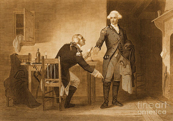 History Print featuring the photograph Treason Of Benedict Arnold, 1780 by Photo Researchers