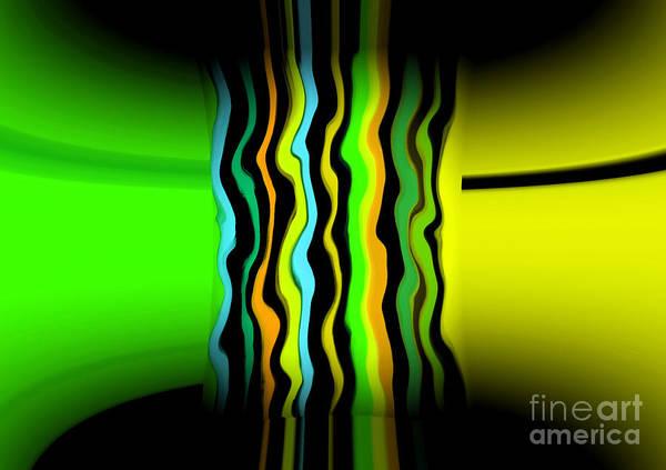 Art Print featuring the digital art Color Pass by Mihaela Stancu