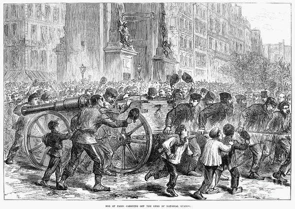 1871 Art Print featuring the photograph Paris Commune, 1871 by Granger