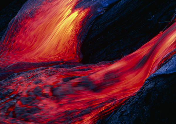 Molten Art Print featuring the photograph Lava Flow by G. Brad Lewis