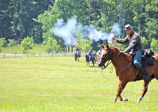 Horse Art Print featuring the photograph Civil War Reenactment by Alexis McAfee