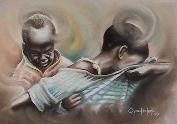 Painting Art Print featuring the painting A Day To Remember by Oyoroko Ken ochuko