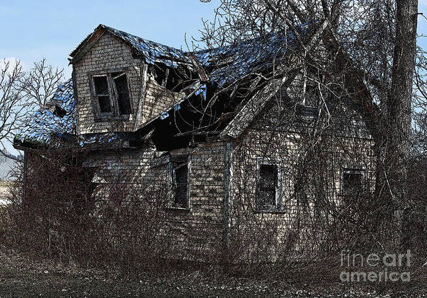 Old House Art Print featuring the photograph Abandoned by Barbara McMahon